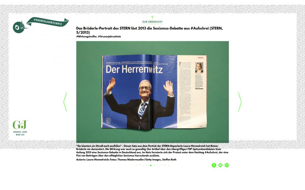 Wirkungstreffer - grunerjahrzehnte.de - Gruner + Jahr wird 50!